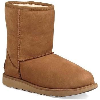 Schuhe Mädchen Schneestiefel UGG K CLASSIS SHORT II WP braun