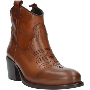 Schuhe Damen Low Boots Exton MZ40 Braun