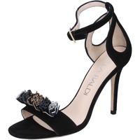 Schuhe Damen Sandalen / Sandaletten Lella Baldi sandalen wildleder schwarz