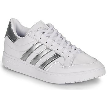 Schuhe Damen Sneaker Low adidas Originals MODERN 80 EUR COURT W Weiss / Silbern