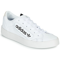 Schuhe Damen Sneaker Low adidas Originals adidas SLEEK W Weiss