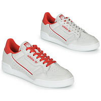 Schuhe Sneaker Low adidas Originals CONTINENTAL 80 Beige / Rot