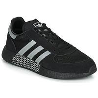 Schuhe Sneaker Low adidas Originals MARATHON TECH Schwarz / Weiss