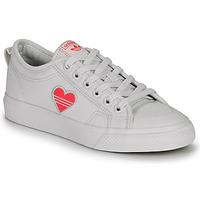 Schuhe Damen Sneaker Low adidas Originals NIZZA TREFOIL W Weiss