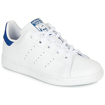 Schuhe Kinder Sneaker Low adidas Originals STAN SMITH C Weiss / Blau