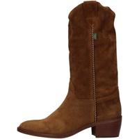 Schuhe Damen Klassische Stiefel Dakota Boots DKT 49-2 CA BROWN
