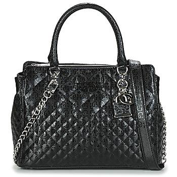 Taschen Damen Handtasche Guess QUEENIE LUXURY SATCHEL Schwarz