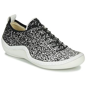 Schuhe Damen Sneaker Low Think KAPSL Schwarz / Weiss
