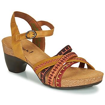 Schuhe Damen Sandalen / Sandaletten Think TRAUDI Gelb / Rot