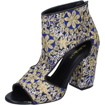 Schuhe Damen Low Boots Elena Iachi stiefeletten textil schwarz