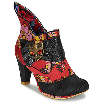 Schuhe Damen Low Boots Irregular Choice MIAOW Rot / Schwarz