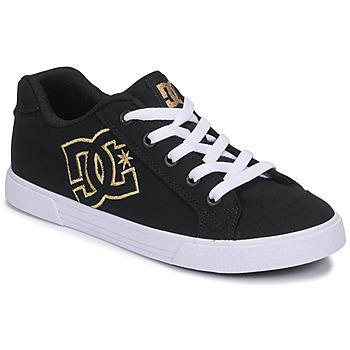 Schuhe Damen Sneaker Low DC Shoes CHELSEA TX Schwarz / Gold