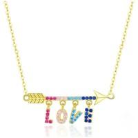 Uhren & Schmuck Damen Collier Blue Pearls CRY C2057 J Multicolor