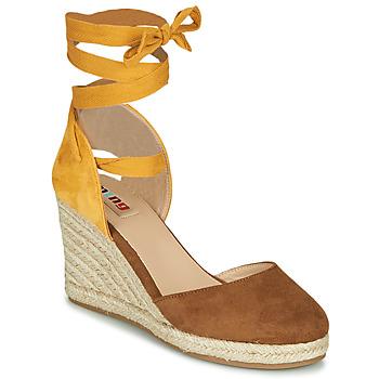 Schuhe Damen Sandalen / Sandaletten MTNG GELLO Braun / Senf
