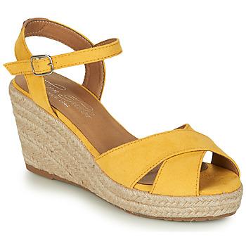 Schuhe Damen Sandalen / Sandaletten Tom Tailor 8090105 Gelb