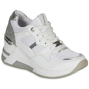 Schuhe Damen Sneaker Low Tom Tailor 8091512 Weiss / Silbern