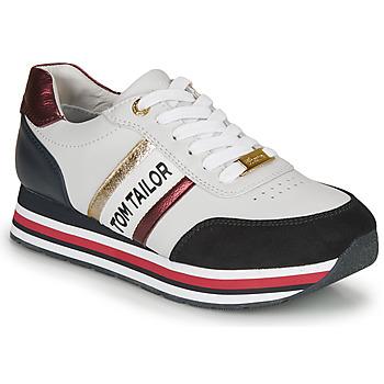 Schuhe Damen Sneaker Low Tom Tailor  Weiss / Blau / Rot