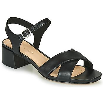 Schuhe Damen Sandalen / Sandaletten Clarks SHEER35 STRAP Schwarz