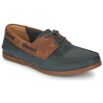 Schuhe Herren Derby-Schuhe Clarks PICKWELL SAIL Marine / Braun