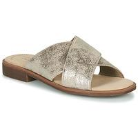 Schuhe Damen Pantoffel Clarks DECLAN IVY Silbern