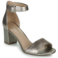 Schuhe Damen Sandalen / Sandaletten Clarks DEVA MAE Silbern