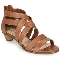 Schuhe Damen Sandalen / Sandaletten Clarks MENA SILK Camel