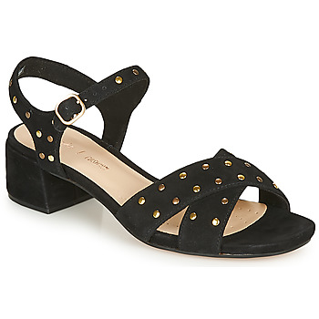 Schuhe Damen Sandalen / Sandaletten Clarks SHEER35 STRAP Schwarz / Clou