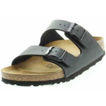 Schuhe Damen Pantoletten / Clogs Birkenstock Classic 51793 Arizona Unisex Tieffußbett Pantolette Schwarz Schwarz