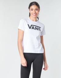 Kleidung Damen Langarmshirts Vans FLYING V CREW TEE Weiss