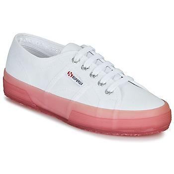 Schuhe Damen Sneaker Low Superga 2750-JELLYGUM COTU Weiss