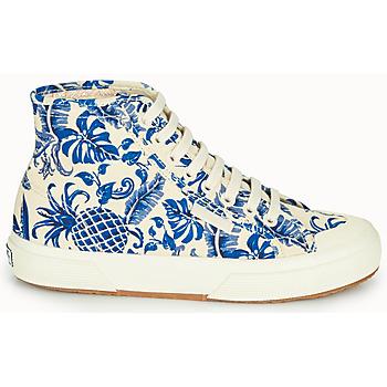 Superga 2295-COTFANW Beige / Blau - Kostenloser Versand |  - Schuhe Sneaker High Damen 6319