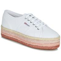 Schuhe Damen Sneaker Low Superga 2790-COTCOLOROPEW Weiss / Rose