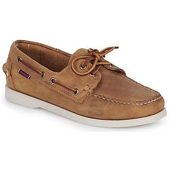 Schuhe Damen Bootsschuhe Sebago DOCKSIDES PORTLAND CRAZY H W Braun