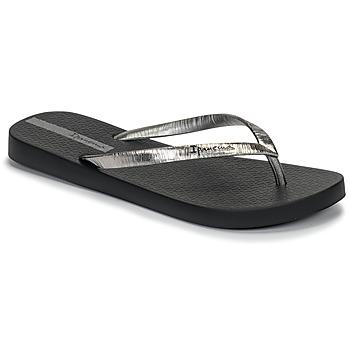 Schuhe Damen Zehensandalen Ipanema GLAM II Schwarz / Silbern