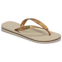 Schuhe Damen Zehensandalen Ipanema CLAS BRASIL II Beige / Gold