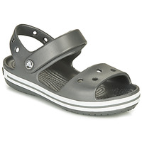 Schuhe Kinder Sportliche Sandalen Crocs CROCBAND SANDAL KIDS Schwarz / Weiss