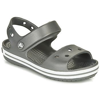 Schuhe Kinder Sportliche Sandalen Crocs CROCBAND SANDAL Schwarz / Weiss