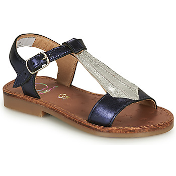 Schuhe Mädchen Sandalen / Sandaletten Shoo Pom HAPPY TIE Blau / Silbern