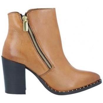Schuhe Damen Low Boots Azarey Azarey 465C920 Botines Casual con Tacón de Mujer braun