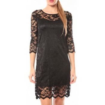 Kleidung Damen Kurze Kleider Dress Code Robe In Vogue Noir Schwarz