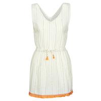 Kleidung Damen Kurze Kleider Banana Moon MARZUL MANDALO Weiss / Orange