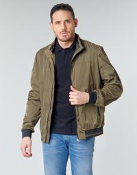 Kleidung Herren Jacken Geox TEVERE BOMBER Grün / Bronze
