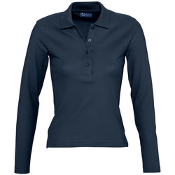 Kleidung Damen Langärmelige Polohemden Sols PODIUM COLORS Azul
