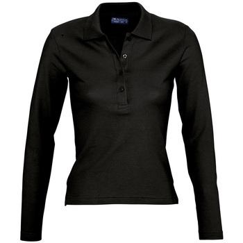 Kleidung Damen Langärmelige Polohemden Sols PODIUM COLORS Negro