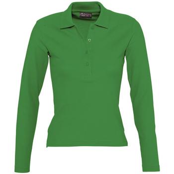 Kleidung Damen Langärmelige Polohemden Sols PODIUM COLORS Verde