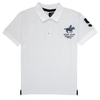 Kleidung Jungen Polohemden Geographical Norway KAMPAI Weiss