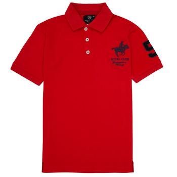 Kleidung Jungen Polohemden Geographical Norway KAMPAI Rot