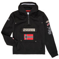 Kleidung Jungen Sweatshirts Geographical Norway GYMCLASS Schwarz