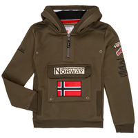 Kleidung Jungen Sweatshirts Geographical Norway GYMCLASS Kaki