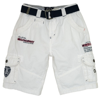 Kleidung Jungen Shorts / Bermudas Geographical Norway POUDRE Weiss